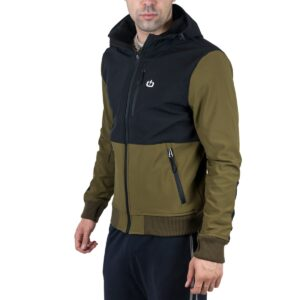 Emerson EMERSON SHOFT SHELL RIBBED JACKET WITH HOOD